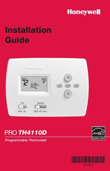 69-1849 - PRO 4110D Programmable Thermostat - Honeywell