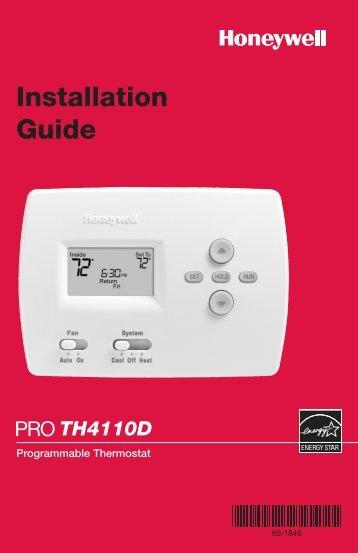 69-1849 - PRO 4110D Programmable Thermostat - Honeywell