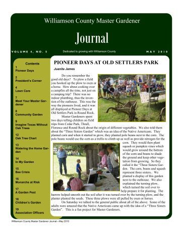 May 2010 Journal - Texas Master Gardeners Association