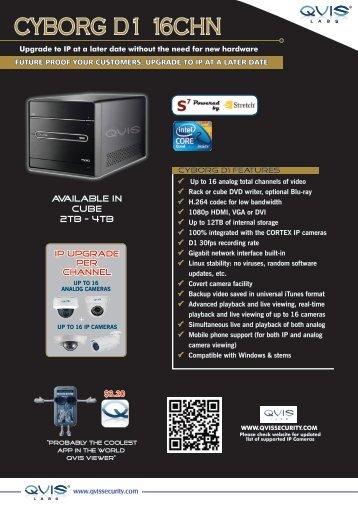 CYBORG D1 16CHN - Qvis Security