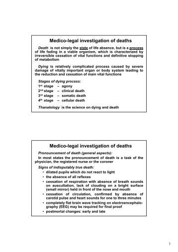 Medico-legal investigation of deaths - TOP Recommended Websites