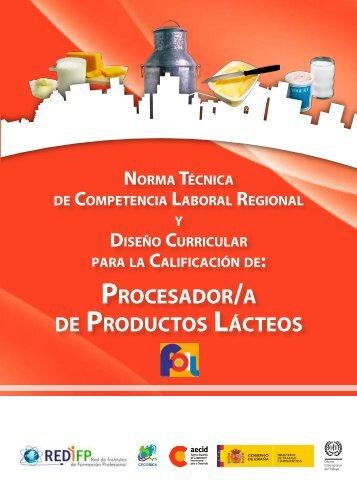 PROCESADOR/A DE PRODUCTOS LÁCTEOS - OIT/Cinterfor