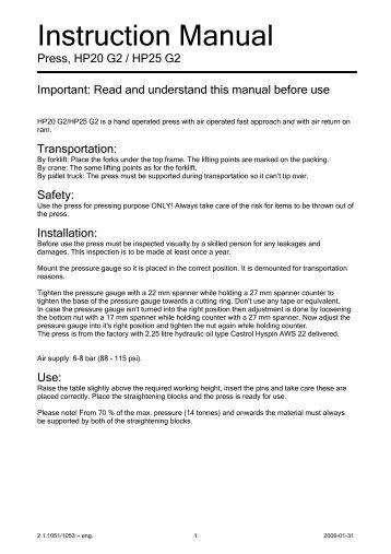 Instruction Manual - CompaC