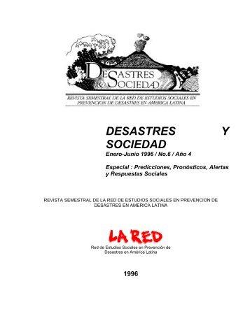 conceptualizando riesgo para desastres sociales - La RED