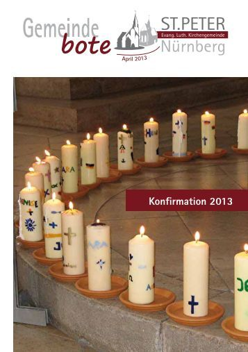 Gemeindebote April 2013 - Kirchengemeinde St. Peter
