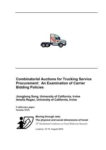 Combinatorial Auctions for Trucking Service Procurement: An ... - IVT
