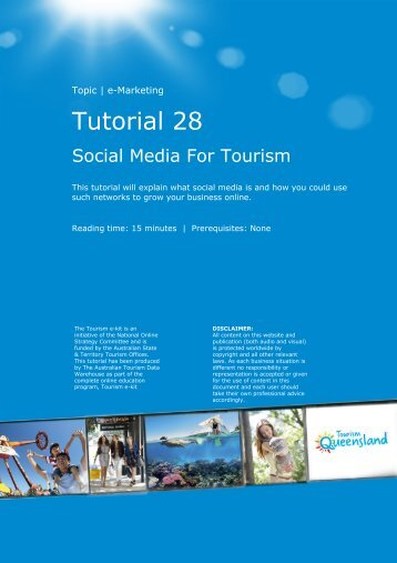 Tutorial 28 - Tourism Queensland