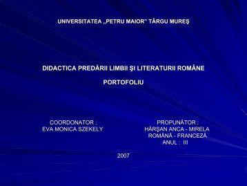 """Moara cu noroc - Ioan Slavici - Universitatea""""Petru Maior"""""""