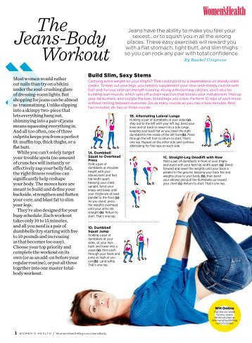 Jeans Body Workout The Women S Health