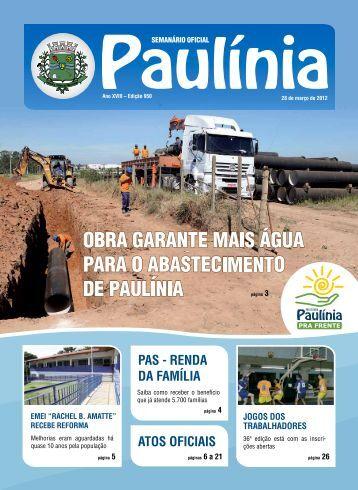 PAS - REndA dA fAmílIA AtoS ofIcIAIS - Prefeitura Municipal de ...