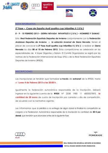 2ª Fase – Copa de España Audi quattro cup Infantiles II - Federación ...