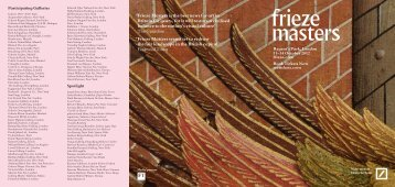 'frieze Masters is the best news for art in Britain for years, for it will ...