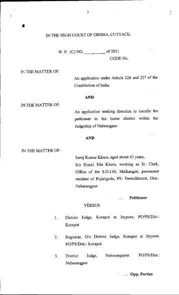 WP(C).No. 29437 of 2011 LAW Deptt ..pdf - Advocate General Orissa