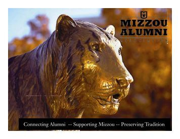 Making the Most of MAA Support - Mizzou Alumni Association