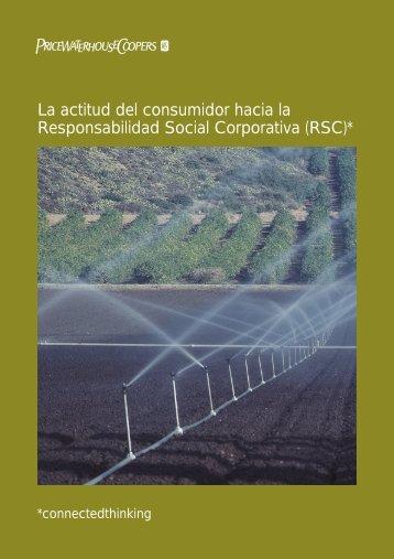 Actitud del consumidor hacia la RSC - pwc