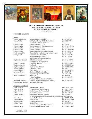 Black history month worksheets pdf
