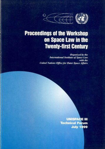 Proceedings of the Workshop - United Nations Office for Outer ...