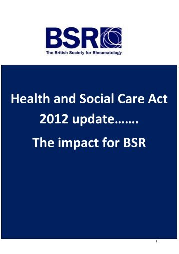 health and social care act 2012 On 27 march 2012 after a turbulent passage through parliament many of the  central themes of the health and social care bill as introduced to.