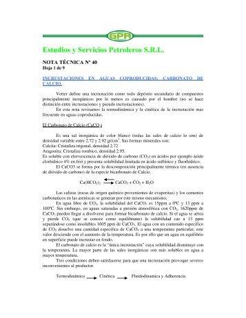 Estudios y Servicios Petroleros S.5.L. - OilProduction.net