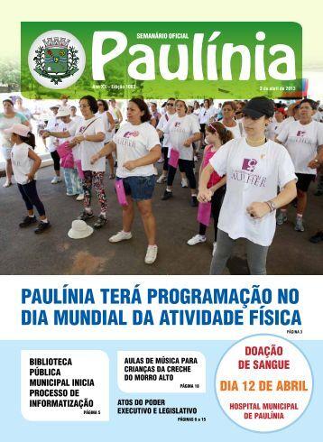 1003 - Edição Normal - Prefeitura Municipal de Paulínia