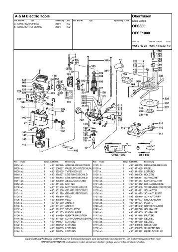 ofs 800 erz 4000378225 oberfraese atlas copco, ersatzteile ...