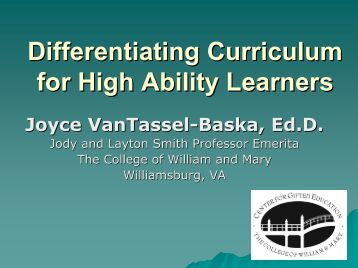 Designing Effective Curriculum for Gifted Learners: Key ...