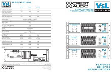 crest audio 8001 service manual