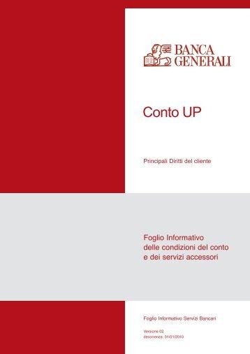 Prospetto informativo Banca Generali Conto Up (PDF) - Sos Tariffe