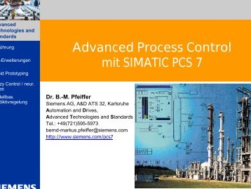 Advanced Process Control mit SIMATIC PCS 7