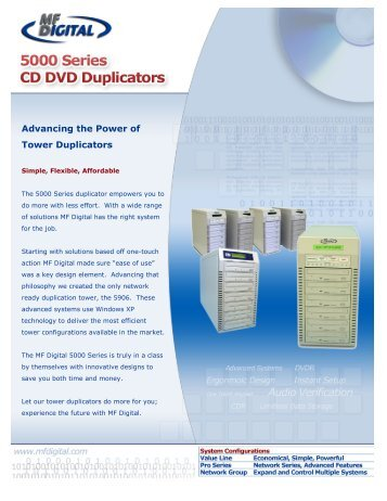 View Product Brochure - CD DVD Duplication