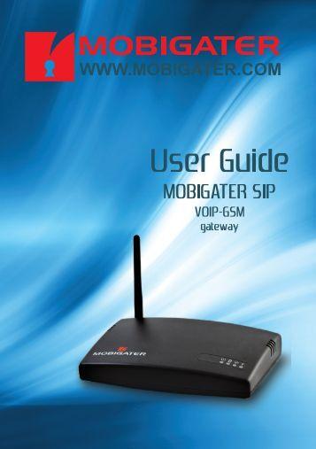 Manual MobiGater for SIP