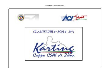 CLASSIFICHE 6^ ZONA - 2011 - Vroomkart