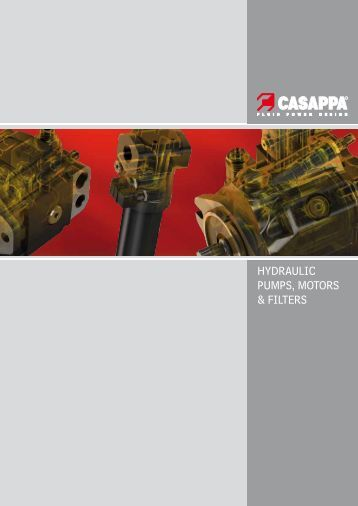 HYDRAULIC PUMPS, MOTORS & FILTERS - Casappa