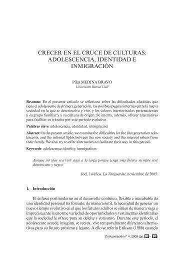 Crecer en el cruce de culturas: adolescencia, identidad e inmigración