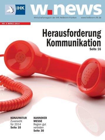 Kommunikation | w.news 03.2014