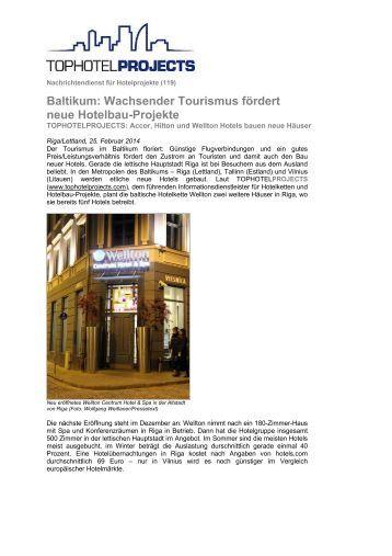Baltikum: Wachsender Tourismus fördert neue Hotelbau-Projekte