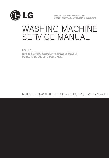 WASHING MACHINE SERVICE MANUAL - Jordans Manuals
