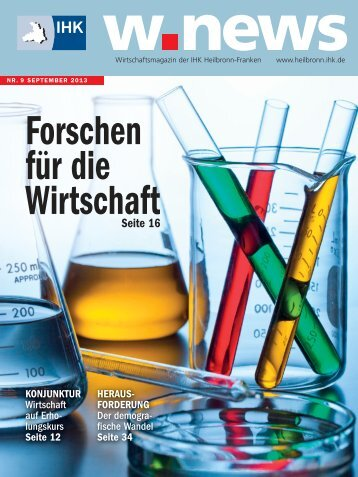 Technologietransfer in der Wirtschaft | w.news 09.2013
