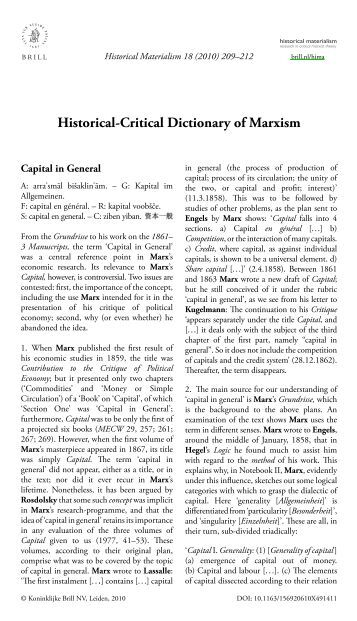 an introduction to marxs view of history Capital combines vivid historical detail with a bitter denunciation of  as a  foundational text of the marxist movement, it is a condensed account of the whole  marxist vision marx: a very short introduction, by peter singer.