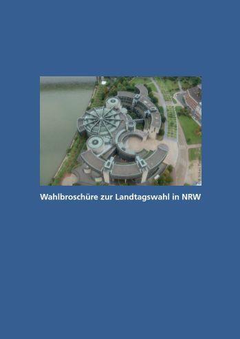 Wahlbroschüre zur Landtagswahl in NRW - Integration in Wuppertal