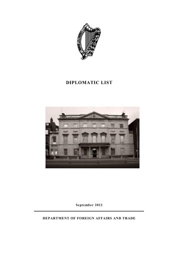 Diplomatic List September 2012 (PDF 996kb) - Department of ...