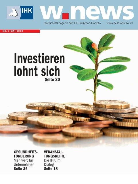 Investieren in Wachstum | w.news 05.2013