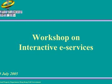 Workshop on Interactive e-services