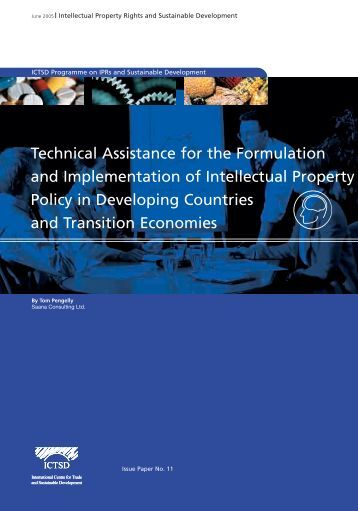 Technical Assistance for the Formulation and ... - IPRsonline.org