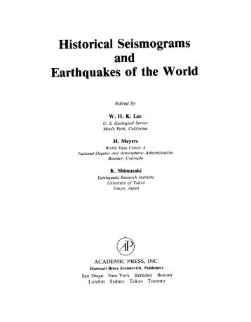Historical Seismograms - Evidence from the AD 2000 Izu Islands ...