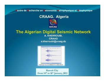 The Algerian Digital Seismic Network - IRIS