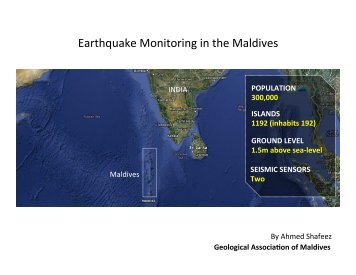Earthquake Monitoring in the Maldives - IRIS
