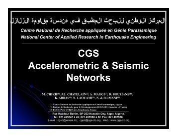CGS Accelerometric & Seismic Networks - IRIS
