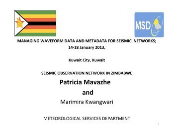 Seismic Observation Network In Zimbabwe - IRIS