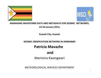 Seismic Observation Network In Zimbabwe - IRIS